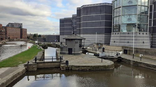 Leeds Lock, Aire and Calder Navigation  River Aire and Armouries Museum, Leeds Yorkshire