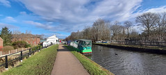 Photo of 23rd February 2021. The Watch House Cruising Club by the Bridgewater Canal at Stretford, Manchester