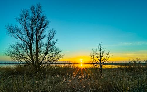 Sunset Knardijk Lelystad - HDR