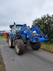 Photo of the blue tractor