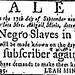 Human Trafficking, Georgia Gazette 08-06-1795 Jewish Slavemaster Leah Minis