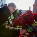 Red roses on the Nemtsov bridge