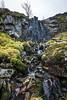 Waterfall, Rough Burn, Clyde Murshiel Regional Park, Lochwinnoch, Renfrewshire, Scotland, UK