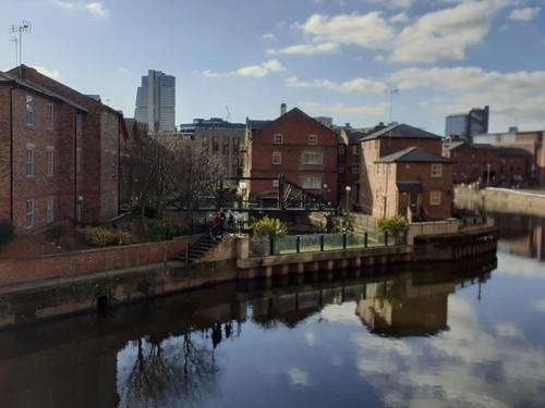 Former Aire and Calder Navigation Dock now Victoria Quays Leeds Yorkshire