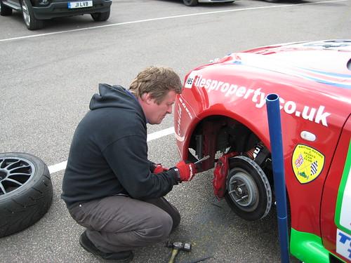 Gary Walker sorts brakes on Alastair Iles' 147
