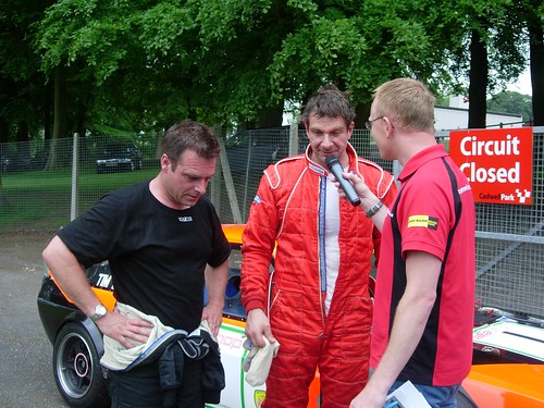 Ian Stapleton and Tim Lewis after race 1 at Cadwell