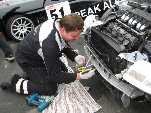 Kevin Evans repairs the damage Anglesey 2008