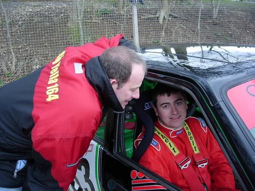 Matt Daly gets advice from Ian Brookfield at Cadwell 2008
