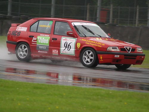 Emma in thr wet at Oulton 2007