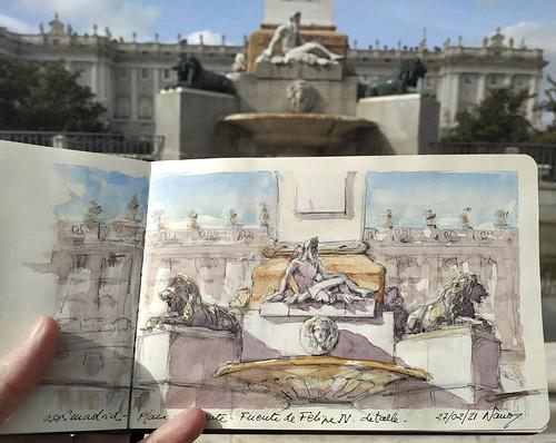 Fuente de Felipe IV, Plaza de Oriente de Madrid.