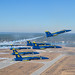 The U.S. Navy Flight Demonstration Squadron, the Blue Angels, perform the Pitch-Up Break maneuver during a training flight over Naval Air Station (NAS) Pensacola.