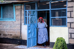 Sylvia Kiruja at home on the dairy farm in Meru, Kenya.