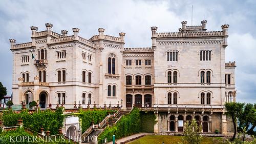 Schloss Miramar vom Park aus