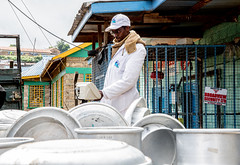 Milk is delivered, tested in Meru, Kenya, before being sent to the processor.