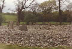 Photo of Kilmartin, Argyll. Temple Wood stone circle c.1987.
