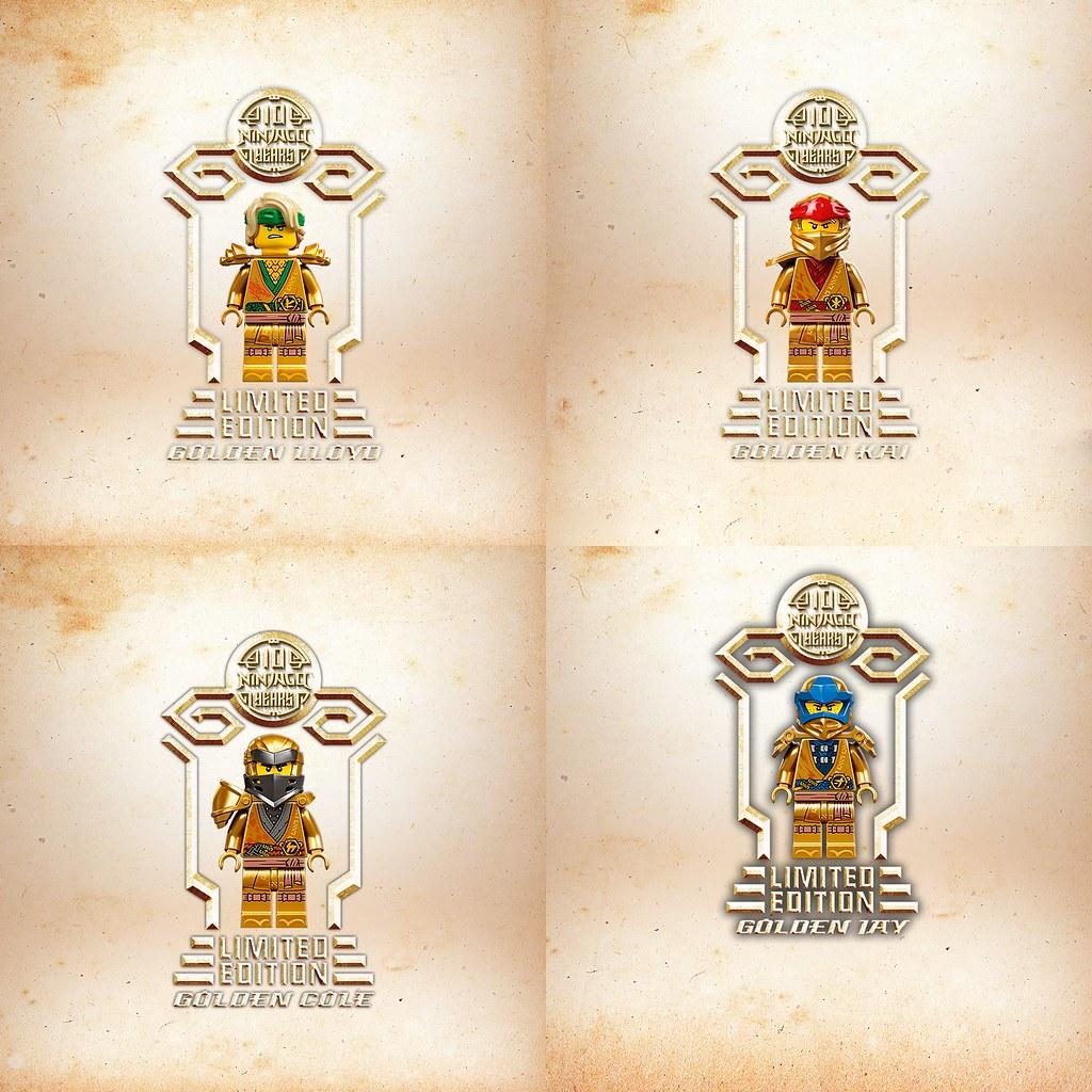 樂高旋風忍者紀念10週年里程碑 特別推出限量版黃金Legacy收藏版人偶