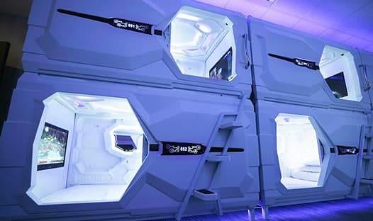 【圖3】複身犯聯名旅宿科幻太空艙房