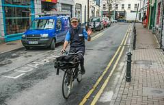 Briefträger in Galway, Irland