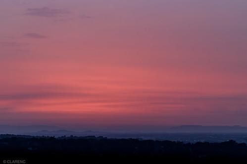 morning,  vue sur la vallée du Rhône et les Alpilles