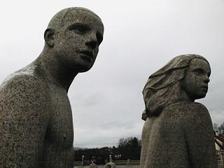 oslo vigelands park statue 2007