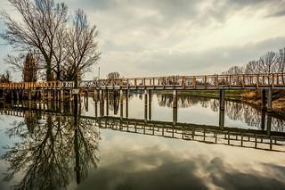 The reflected small bridge