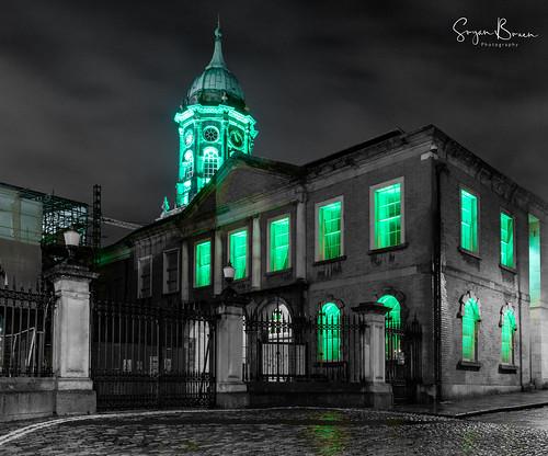Dublin Castle St. Patrick's Day lights