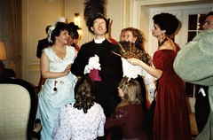 At the Hotel Regina, Grindelwald - as usual, Dr Shlessinger (Peter Horrocks), is surrounded by devoted ladies (photo by Jean Upton)