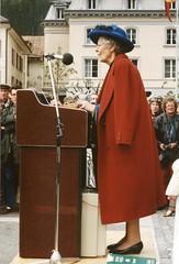 Meiringen - Dame Jean Conan Doyle speaks (photo by Jean Upton)