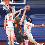 The Syracuse Orange take on the Clemson Tigers at the Carrier Dome in Syracuse N.Y, March 3, 2021