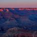 Grand Canyon National Park — Moonrise panorama, February 26, 2021
