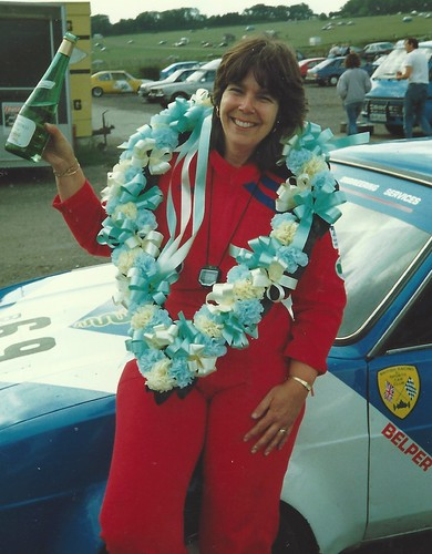 Stella Shutler with Alan's prize for winning at Lydden