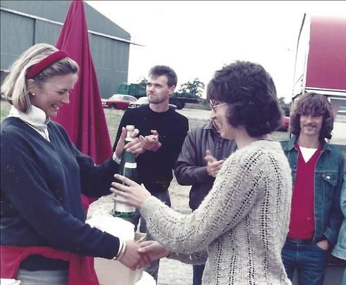Debbie Ponton received Ladies Champagne at North Weald