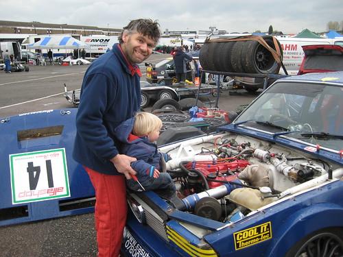 Andy Page with budding engineer Jason