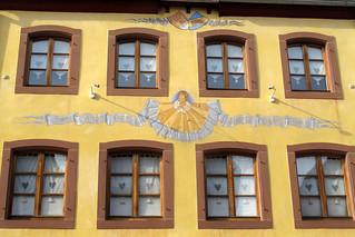 Long sundial in Obernai