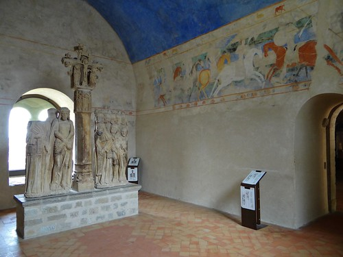 ca. 1160-1200 - 'combat between Christian knights and Saracens', Château comtal, Carcassonne, dép. Aude, France