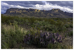 Partly cloudy over the Chisos