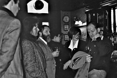 Once in the bar of the Museum Tavern, the first essential is a drink (photo by Jean Upton)