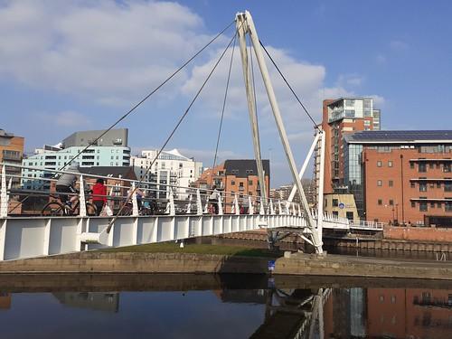 Knight's Way Bridge River Aire Leeds Yorkshire