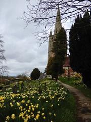 Photo of Clive church & churchyard