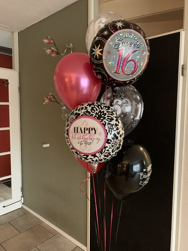 Ballonboeket Verjaardag 16 Jaar Sweet 16