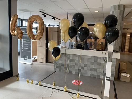 Folieballon Cijfer 40 Tafeldecoratie 6ballonnen Gronddecoratie Asto Keukens Rotterdam
