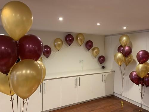 Heliumboog en Tafeldecoratie 6ballonnen Cleopatra Jewels Rotterdam