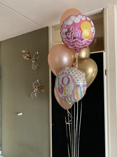 Ballonboeket Geboorte Baby Meisje