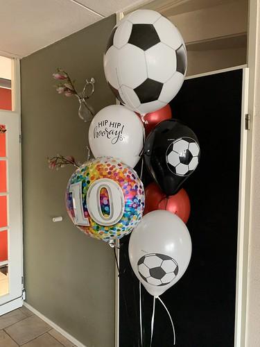 Ballonboeket Verjaardag 10 Jaar Voetbal Excelsior Rotterdam