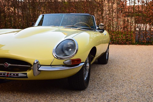Jaguar E-Type OTS 3,8 Litre in Primrose Yellow.