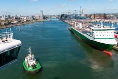 Docking in the River Liffey - Dublin, Ireland