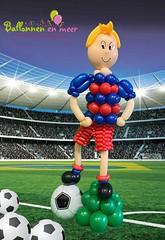 Ballondecoratie voetbal