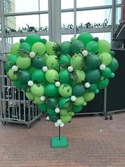3D ballonnen hart op standaard