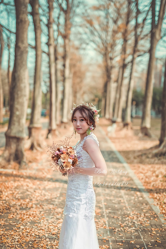 嘉義新秘,新娘秘書,中正大學 ,小葉欖仁黃金大道,白紗造型,仙女風格