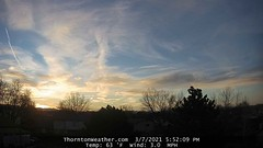 March 7, 2021 - Beautiful sunset colors. (ThorntonWeather.com)